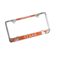 Texas Longhorn Chrome Plated License Plate Cover