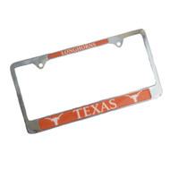 Texas Longhorn Duo Logo License Plate Cover
