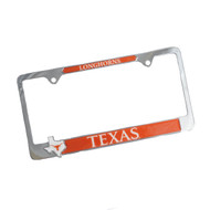 Texas Longhorn State Logo License Plate Cover