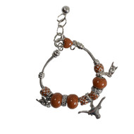 Texas Longhorn Hook 'em Charm Bracelet