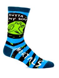 Blue Q Outta My Way-Mortal Socks