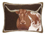 Longhorn Crewel Pillow