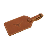 Texas Longhorn Leather Luggage Tag (CS425T)