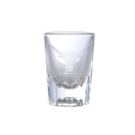 Texas Longhorn Etched Logo Shot Glass (GG2063)