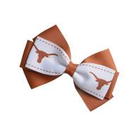 Texas Longhorn 2 Tone Hair Bow