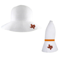 Team Color Amelia Collapsible Sun Hat (4309-Wht)