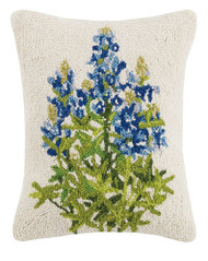 Bluebonnet Crewel Pillow   30ML351C18OB