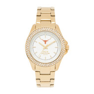 Texas Longhorn Ladies' Gold Glitz Sport Bracelet Watch