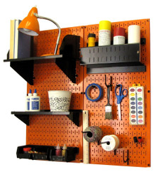 Craft & Hobby Pegboard Organizer Kit - Orange Pegboard with Accessories
