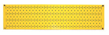 8in x 32in Horizontal Yellow Metal Pegboard Tool Board Panel