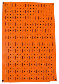 Limited - 24in Tall x 16in Wide Custom Pegboard Panel - Orange Metal Pegboard