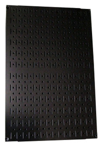 Limited - 24in Tall x 16in Wide Custom Pegboard Panel - Black Metal Pegboard