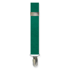 New Emerald Green Clip On Suspenders