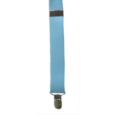 New Light Blue Clip On Suspenders