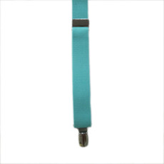 New Tiffany Blue Clip On Suspender