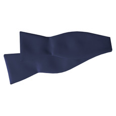 New Navy Blue Self Tie Bow Tie
