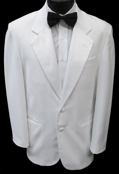 Classic White 2 Button Notch Lapel Dinner Jacket