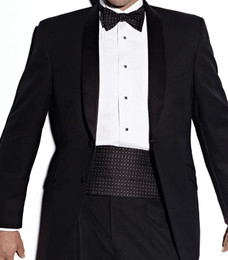 "Tallia Uomo Black ""Avanti"" Shawl Lapel Tuxedo Jacket with matching Pants"