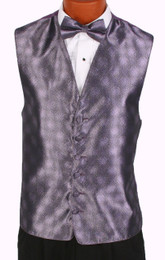 Lavender Perry Ellis Fullback Vest and Bow Tie
