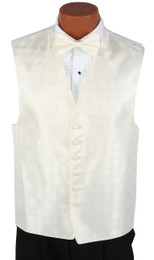 Ivory Perry Ellis Vest and Bow Tie