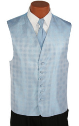 Light Blue Perry Ellis Vest and Long Tie