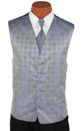Periwinkle Perry Ellis Vest and Long Tie