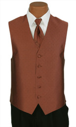"Ralph Lauren ""Vineyard"" Vest and Long Tie in Cognac"