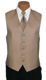 "Ralph Lauren ""Vineyard"" Vest and Long Tie in Latte"