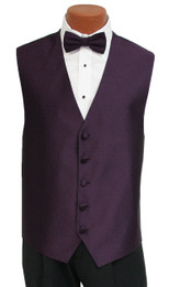 "Ralph Lauren ""Vineyard"" Vest and Bow Tie in Eggplant"