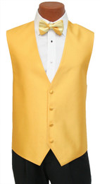 "Red Sleeve ""Reflection"" Vest and Tie Set in Saffron"