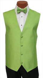"Red Sleeve ""Reflection"" Vest and Bow Tie Set in Green Apple"
