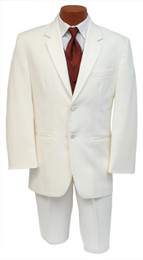 Ivory Tuxedo - 2 Button Notch Jacket w/ Matching Pants