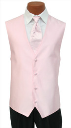 "Red Sleeve ""Reflection"" Vest and Tie in Pearl Pink"