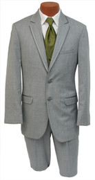 Silver Savoy - Gray 2 button, notch lapel with trim. (Jacket and Pants)
