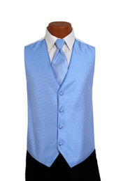 Sterling Vest and Tie Set in Cornflower
