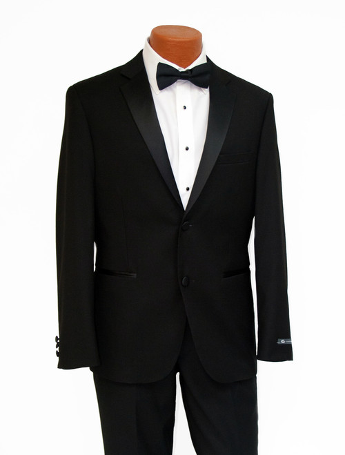 New Black Slim Fit Tuxedo Front View