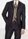 Calvin Klein Black Magnum 3 Button Notch Lapel Tuxedo Jacket with Matching Pants