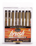 432027, Pigma Brush Pen Set, Assorted, 8/pens