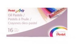 447601, Pentel Oil Pastel Set, 16/pastel