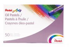 447605, Pentel Oil Pastel Set, 50/pastel