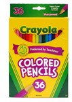 446504, Crayola Colored Pencils, 3.3mm core, 36 color Set