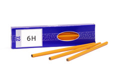 443026, Vocational Drafting Pencils, 6H, Dozen