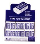 474202, Shine Plastic Eraser, 2dz.