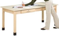 "701101, Art Planning Table, 1-1/4"" Plastic Laminate, 72""Wx30""Dx32""H"
