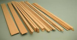 "630513, Balsa Wood Sticks 36"" Length, 1/16""x3/8"""