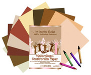 "341298, Pacon Multi Cultural Construction Paper, 12""x18"" 50/Sheets"