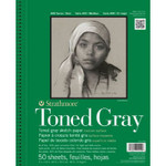 "341781, Toned Sketch - 400 Series, Gray,  9""x 12"" 50 sheets per pad"