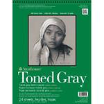 "341782, Toned Sketch - 400 Series, Gray,  11""x 14""  24 sheets per pad"