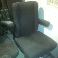 SEAT, High Back, Black, Wall Mount