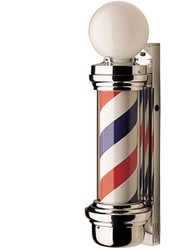 """Barber Pole 6"""" Series #55 Two Light"""